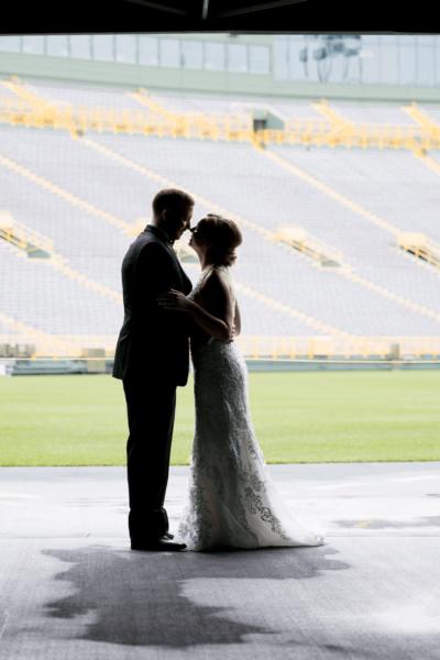Maria & Zach – The Lambeau Wedding Event of the Summer